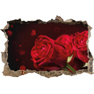Red Roses Wall Sticker By East Urban Home
