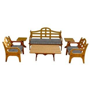 Loon Peak Burliegh 6 Piece Sofa Set with Cushions