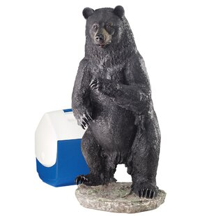 Design Toscano Fishing for Trouble Bear Statue