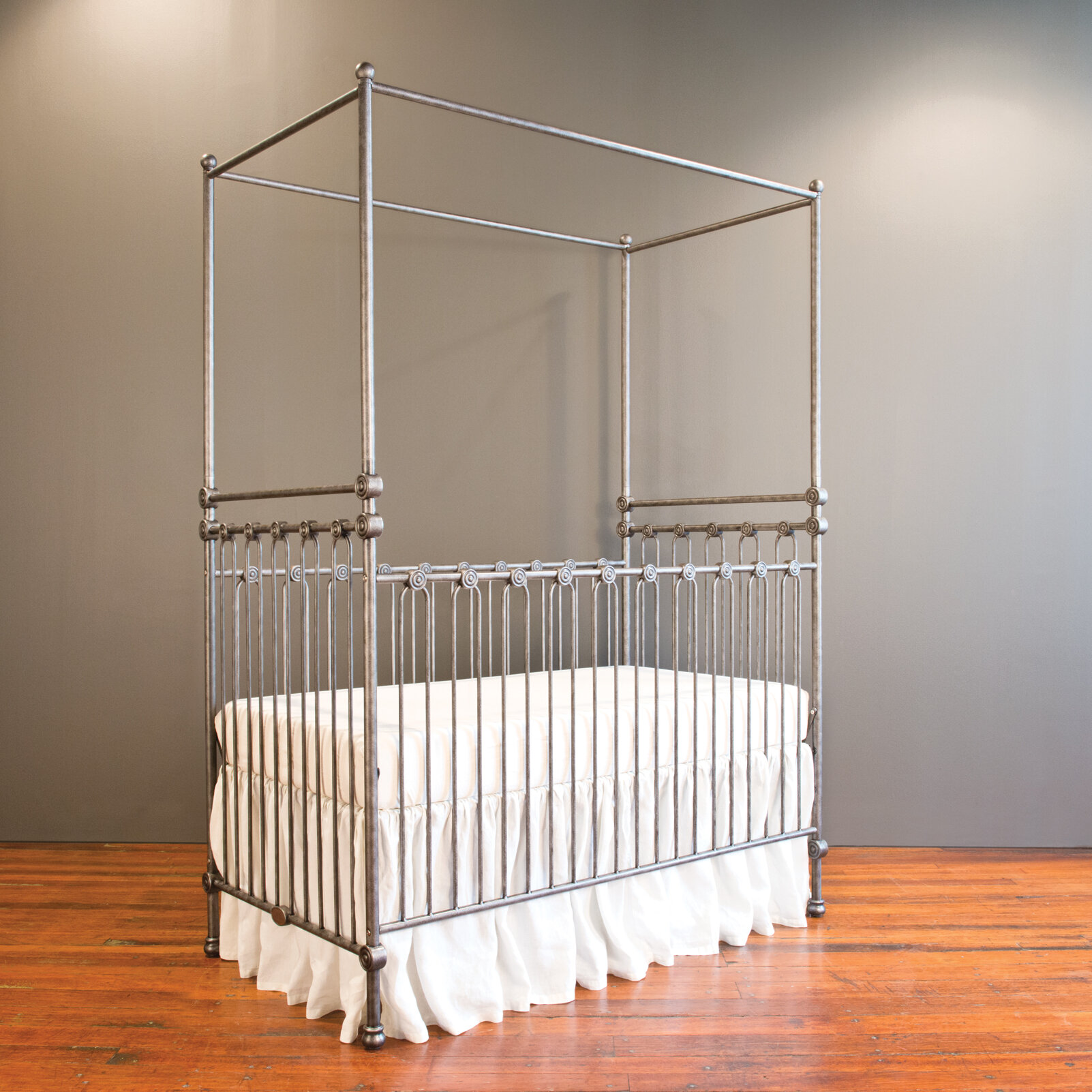 Bratt Decor Joy Canopy 3-in-1 Convertible Crib | Wayfair