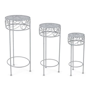 Nessa 3 Piece Nesting Plant Stand Set (Set Of 2) By Lily Manor