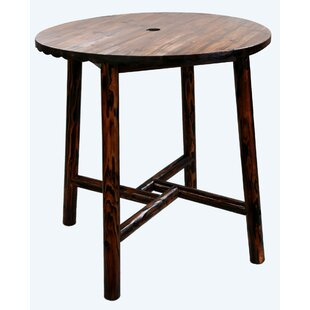 Char Log Round Wooden Bar Table