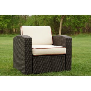 Brayden Studio Loggins Patio Chair with Cushion