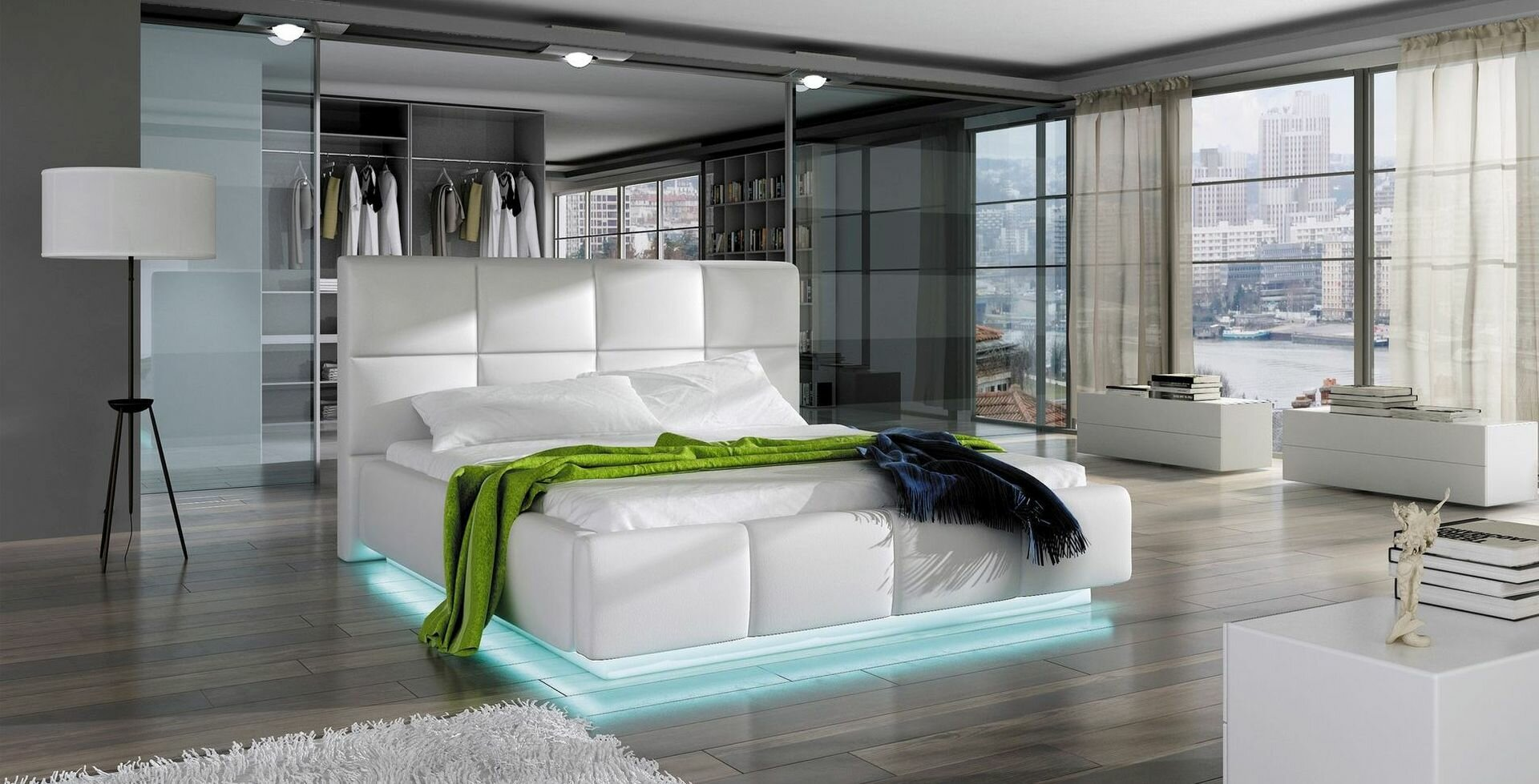 Orren Ellis Boronda Modern Upholstered Storage Platform Bed | Wayfair
