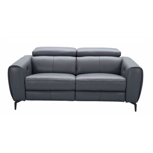 Nakale Leather Reclining Sofa by Orren Ellis Best Design