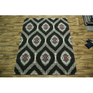 Searching for Bovill Oriental Hand-Tufted Wool Black Area Rug ByCanora Grey