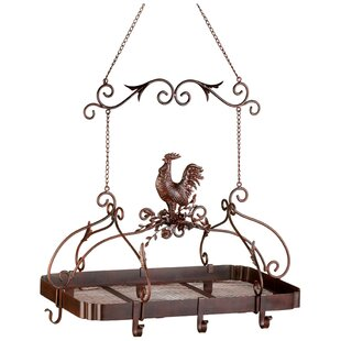 Rooster Hanging Pot Rack by Fleur De Lis Living #2