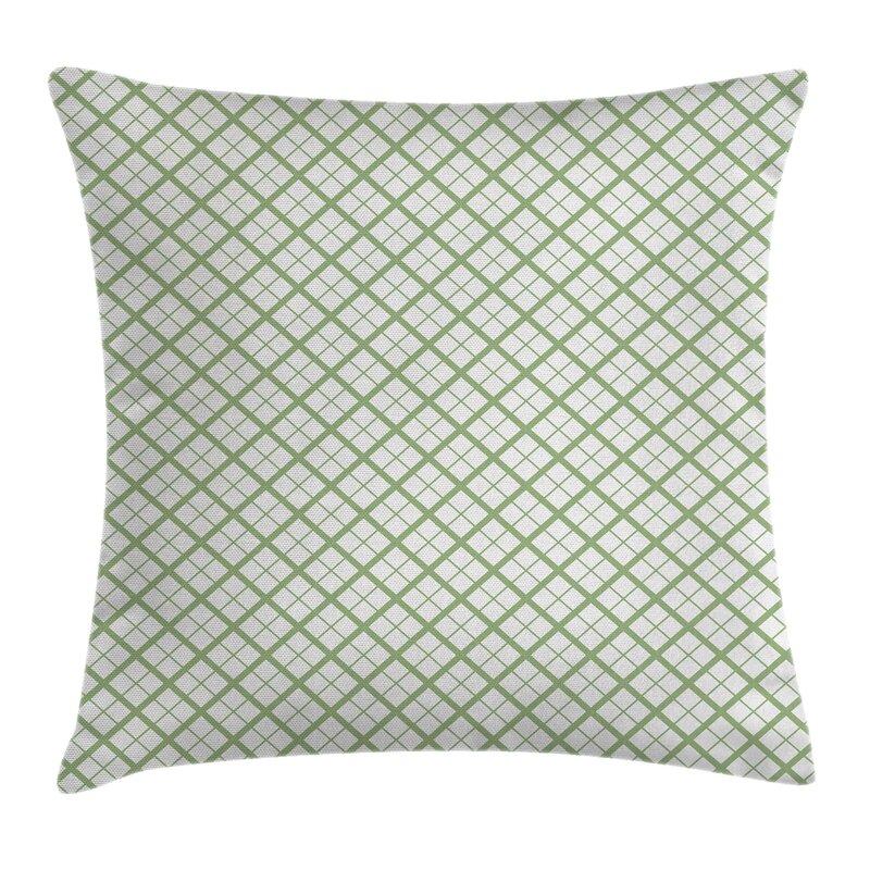 Ambesonne Green Hexagonal Diamond Lines Pillow Cover Wayfair