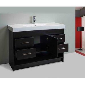 Zinc Bathroom Vanity modern zinc vanity | wayfair