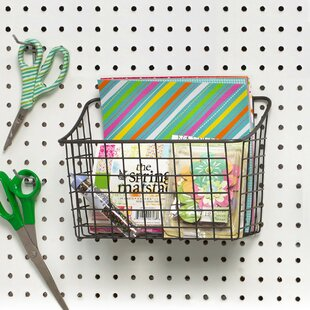 pegboard basket wayfair