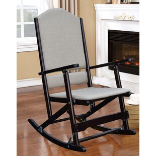 Red Barrel Studio Cinthia Solid Wood Folding Rocking Chair