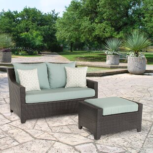 Northridge Loveseat and Ottoman with Cushions by Three Posts