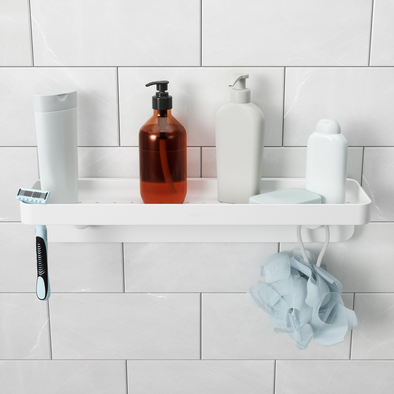 White Umbra Flex Sure-Lock Toothbrush Holder /& Storage Tumbler