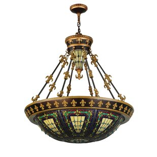 Fleur De Lis Up Light Bowl Pendant
