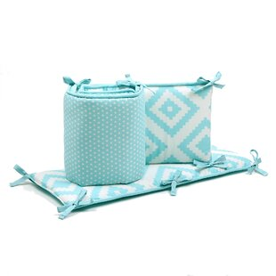Dot Tile Reversible Crib Bumper ByThe Peanut Shell