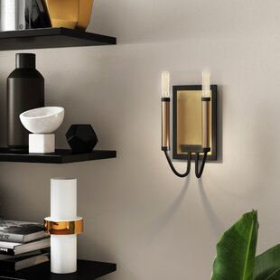 Yarger 2-Light Armed Sconce by Mercury Row