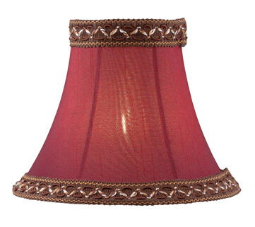 Astoria Grand 5 H Fabric Bell Candelabra Shade Clip On In Red Wayfair