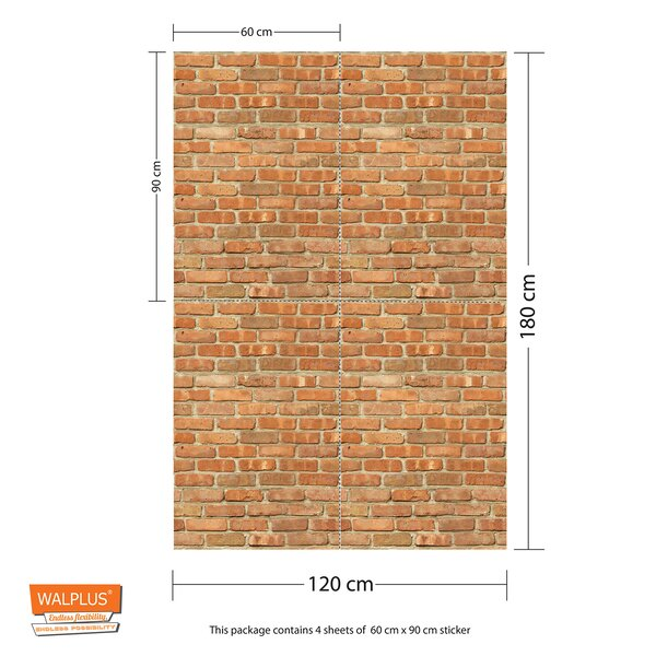 Williston Forge Mundell Brickwall 70 9 L X 47 3 W Peel And Stick Wallpaper Tile Reviews Wayfair