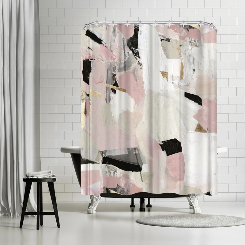 East Urban Home Pi Creative Art Black Rose Gold Ii Single Shower Curtain Wayfair