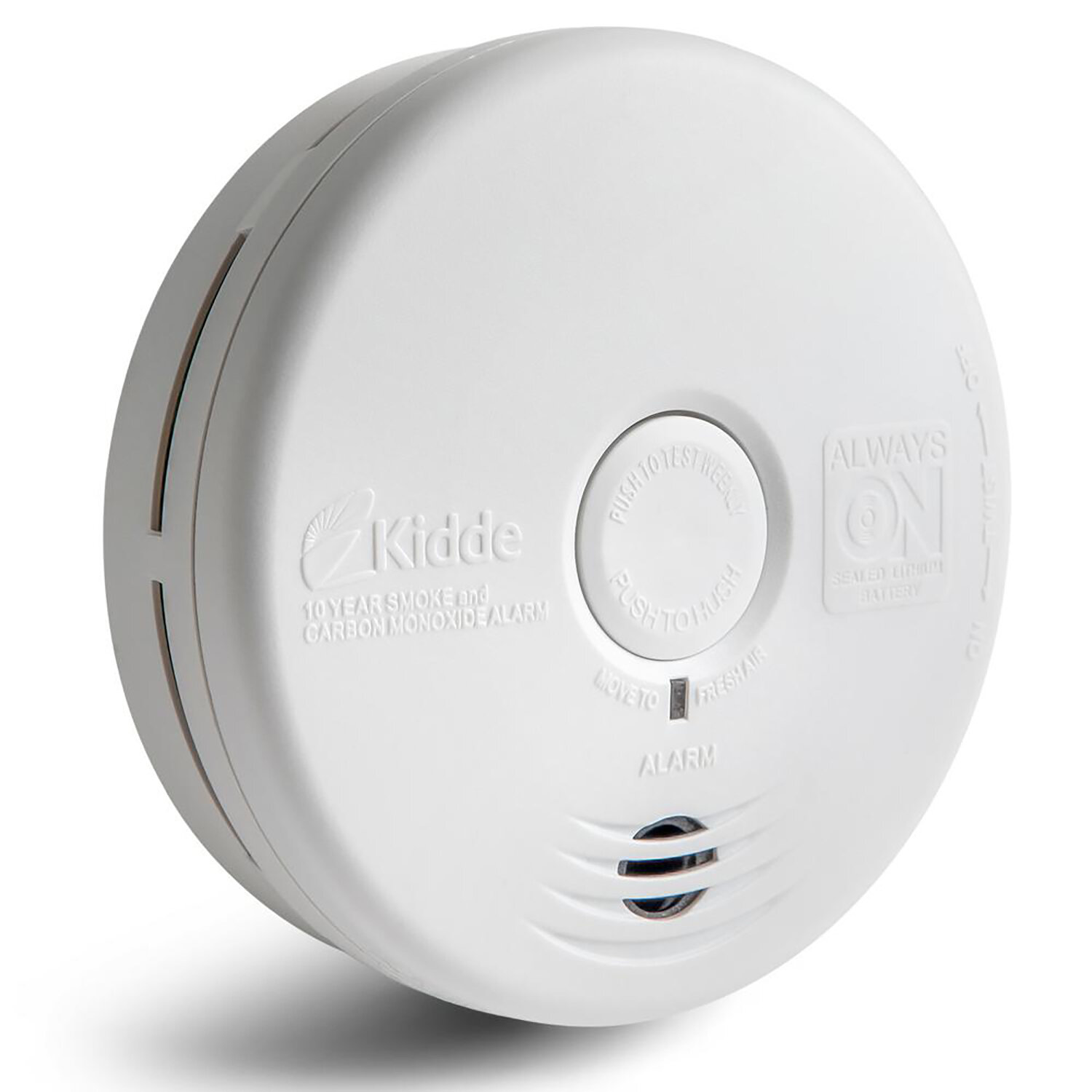 Kidde Worry Free Combination Smoke And Carbon Monoxide Alarm With
