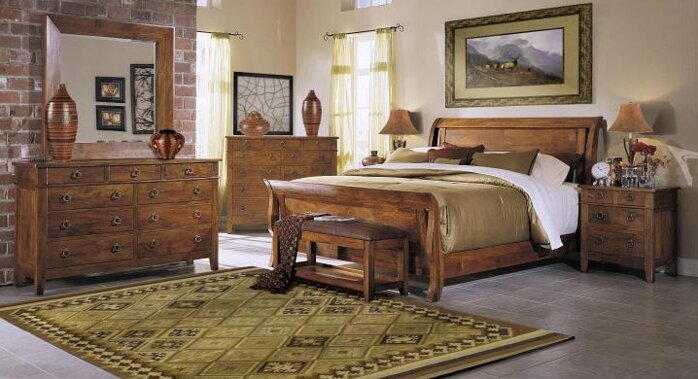 Klaussner Furniture Urban Craftsmen Sleigh Configurable Bedroom ...