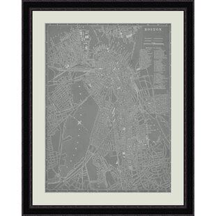 City Map Of Boston Framed Graphic Art