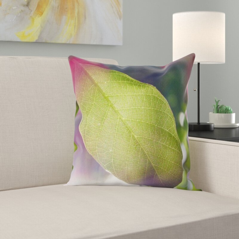 East Urban Home Leaf Throw Pillow Wayfair