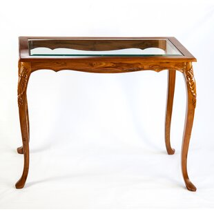 Glass-Top French Style Console Table By The Silver Teak