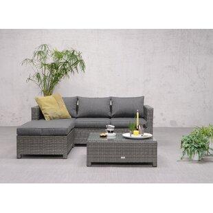 Gluck 4 Seater Rattan Effect Corner Sofa Set Image