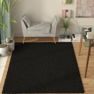 Find the perfect Burns Single Solid Black Shag Area Rug By Zipcode Design