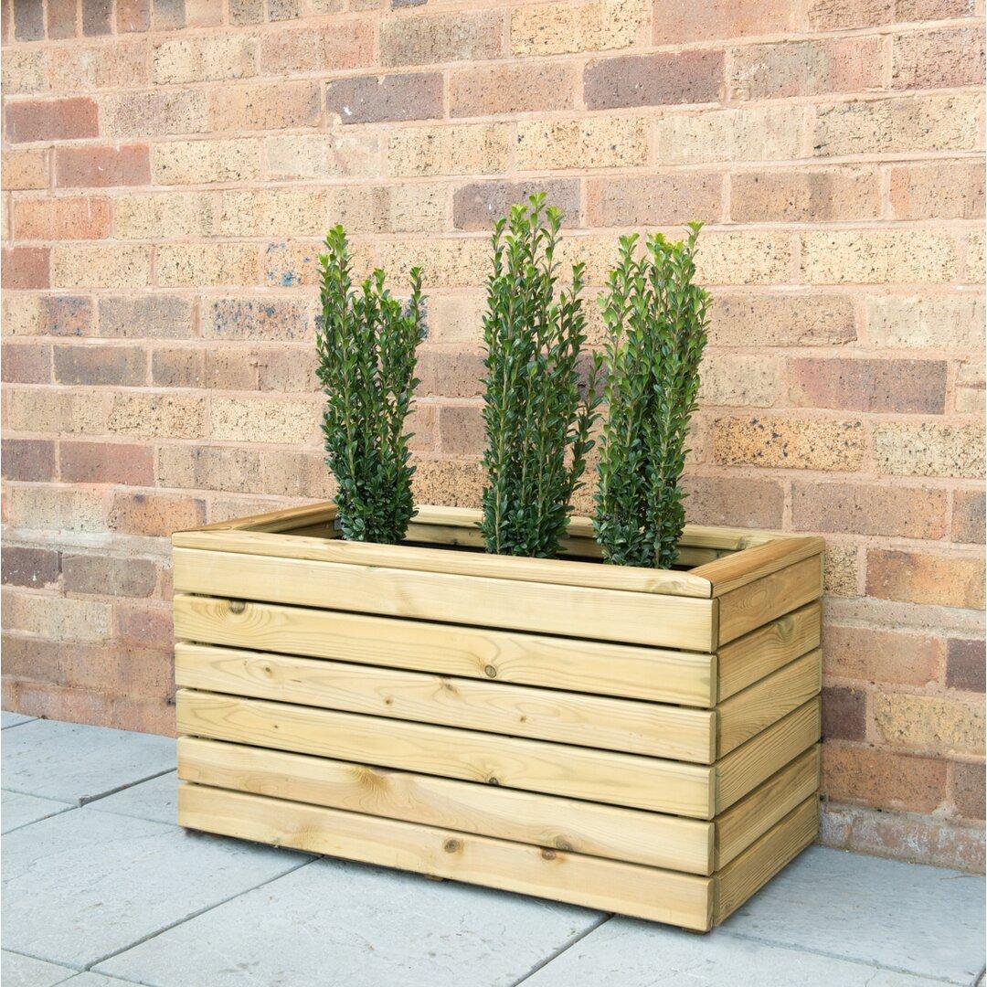 Linear Wooden Planter Box