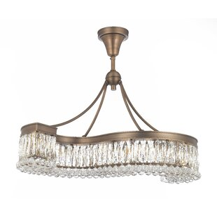 Freddie 8-Light Crystal Chandelier by Ros..