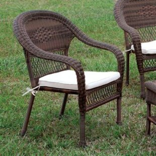 Kelloch Patio Chair with Cushions by Alcott Hill