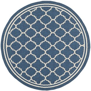 Critchlow Navy Blue Indoor/Outdoor Area Rug by Charlton Home