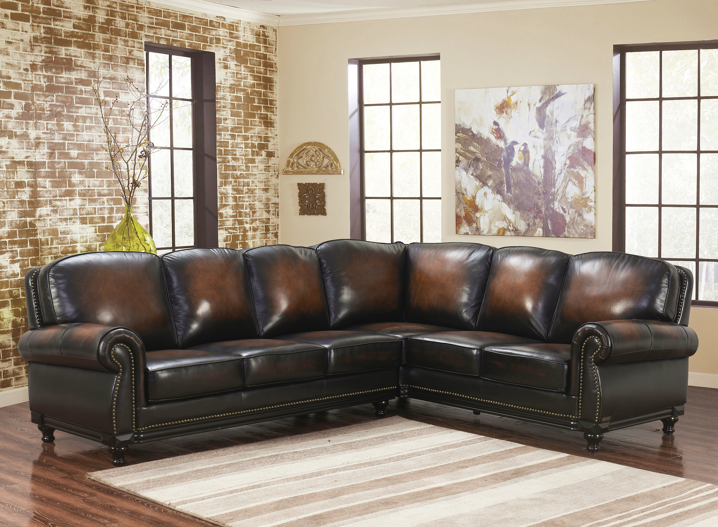 Boulton Leather Corner Sectional