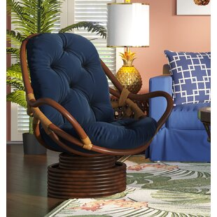 Affordable Jimena Swivel Papasan Chair ByBeachcrest Home