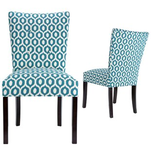Matteson Fan Back Upholstered Dining Chair (Set of 2)