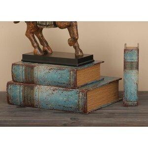 Sandown 3 Piece Wood Book Box Set