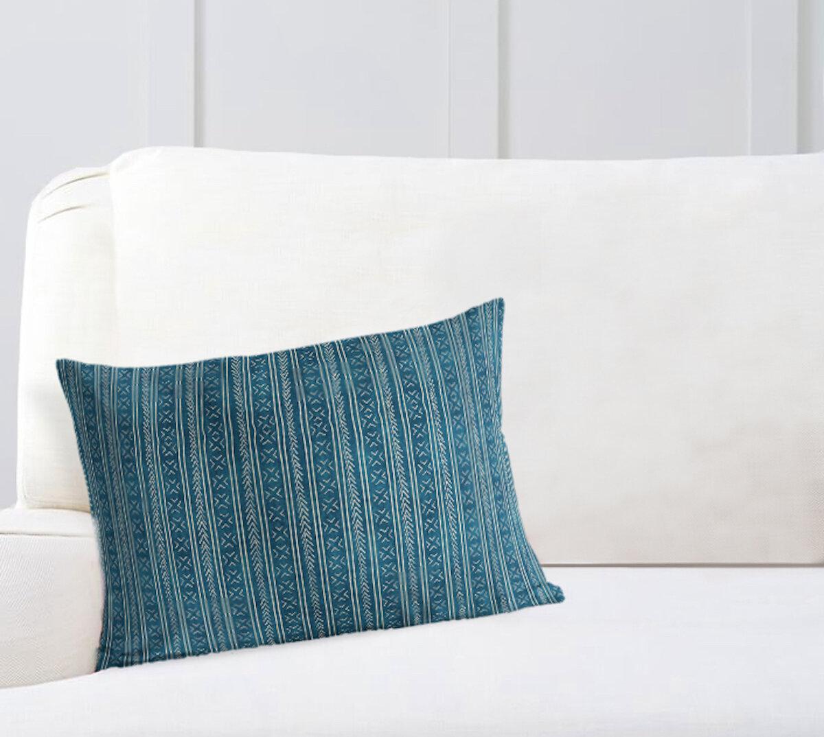Mistana Adeline 100 Cotton Striped Lumbar Pillow Reviews Wayfair