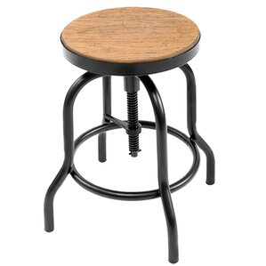 Kareen Adjustable Height Swivel Bar Stool by Williston Forge