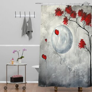 Madart Inc. Far Side Of The Moon Extra Long Shower Curtain by Deny Designs