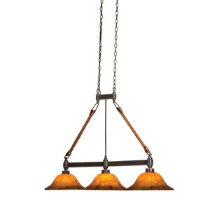 Rodeo Dr. 3-Light Kitchen Island Pendant by Kalco