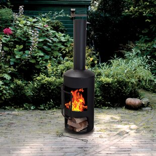 Balmers Steel Charcoal Outdoor Fireplace By Sol 72 Outdoor