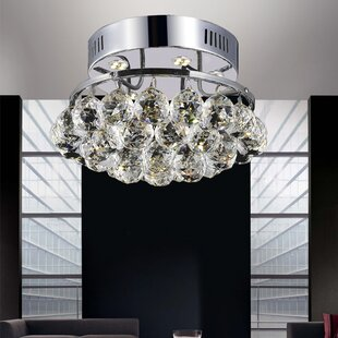 Lucian 3-Light Semi Flush Mount by Mercer41