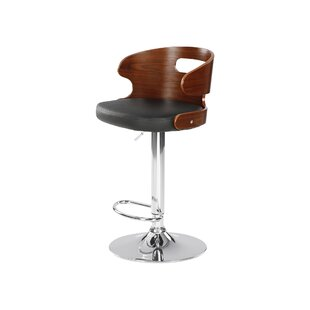 Louise Height Adjustable Swivel Bar Stool By George Oliver