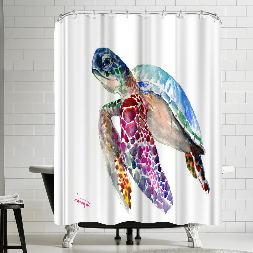 East Urban Home Suren Nersisyan Sea Turtles Single Shower Curtain Wayfair