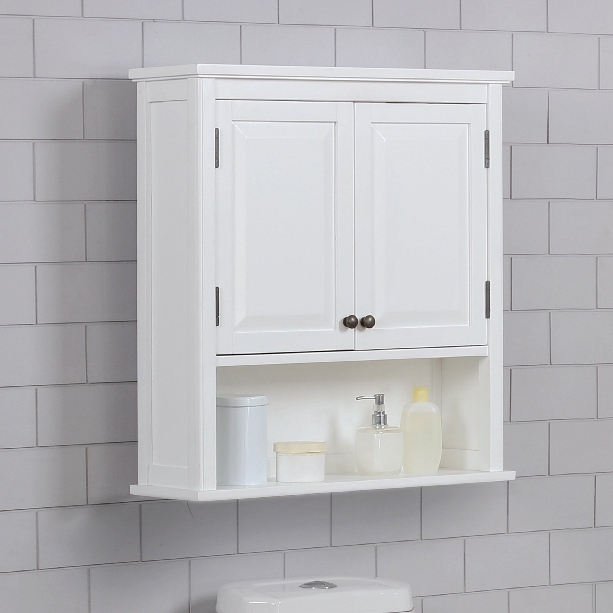 Highland Dunes Carruthers 27 W X 29 H X 9 D Wall Mounted Bathroom Cabinet Reviews Wayfair