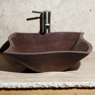 Allstone Group Curve Stone Rectangular Vessel Bathroom Sink