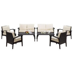 Belmonte 8 Piece Rattan Sofa Seating Group with Cushions