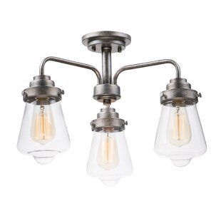 Kimbrell 3-Light Semi Flush Mount by Breakwater Bay